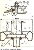 Пресс конструкции Рудановского для формования блоков